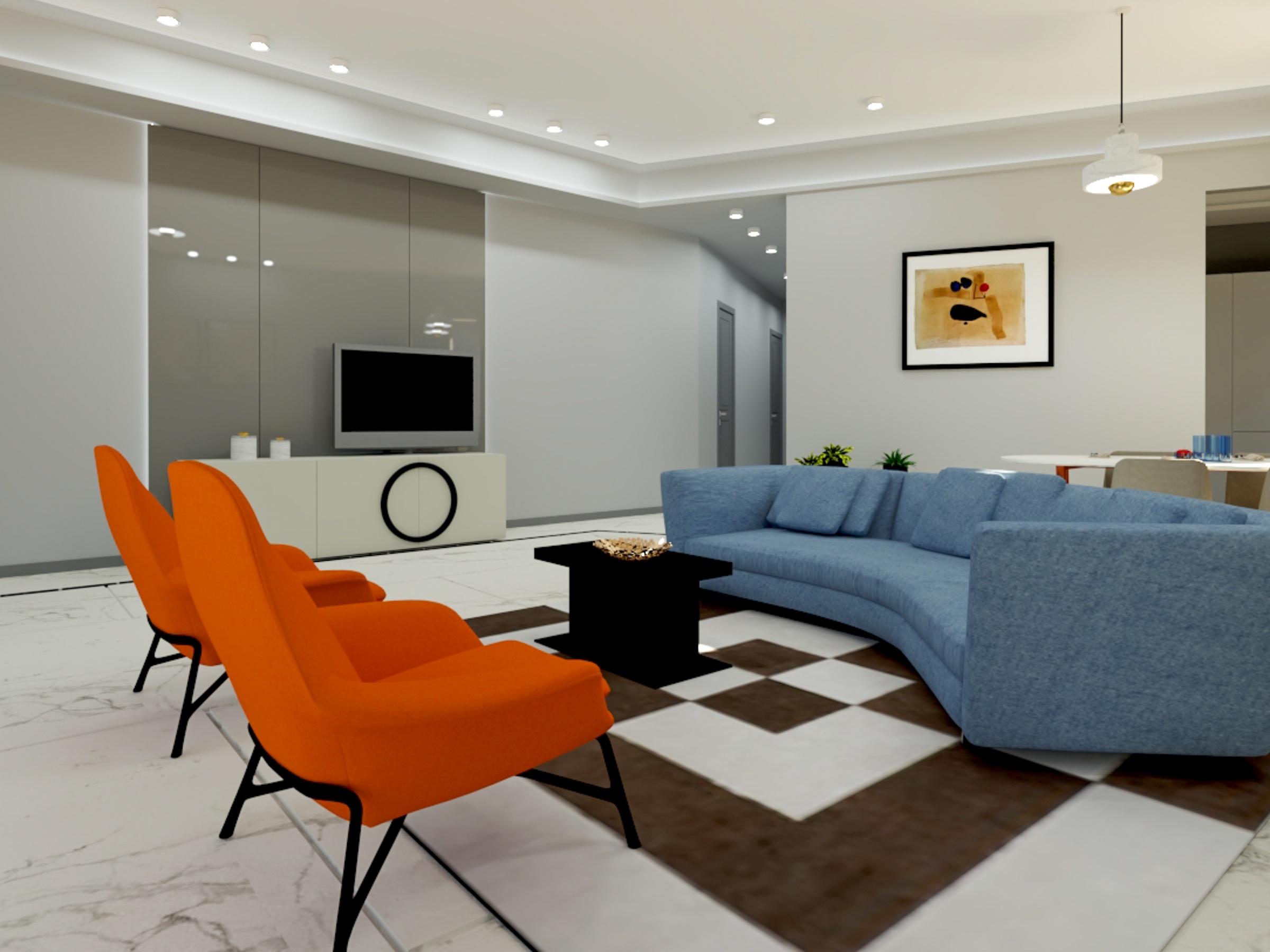Living room interior design in apartments