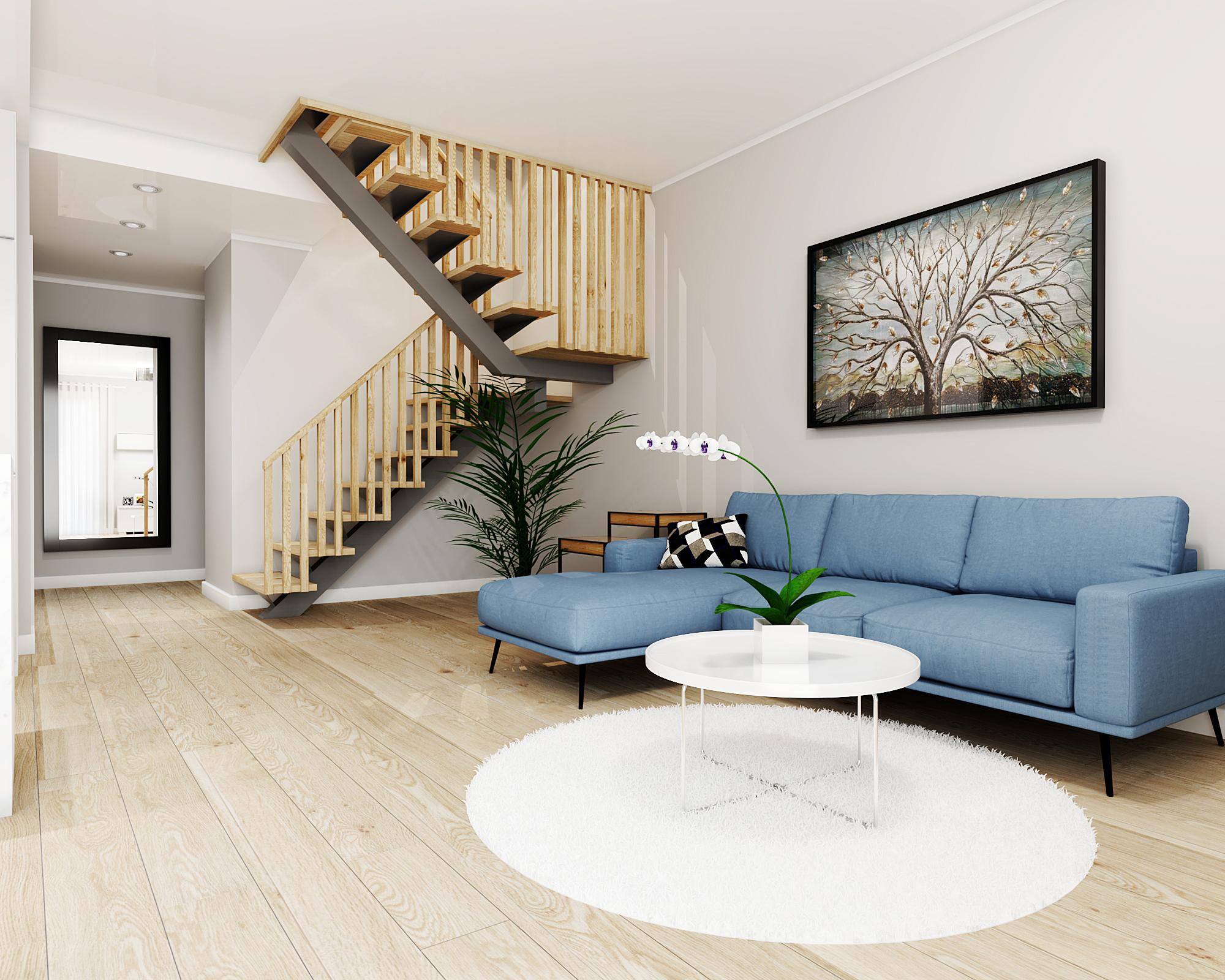 Terraced house living room